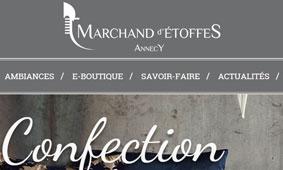 E-COMMERCE : Marchand d'Etoffes
